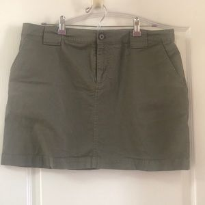Banana Republic olive army green mini skirt. 14